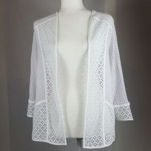 Alfred Dunner Lace Cardigan